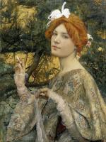 Эдгар Максанс. Девушка с орхидеей