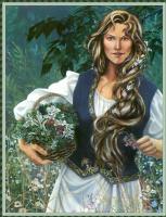 Робин Вуд. Девушка с корзиной цветов