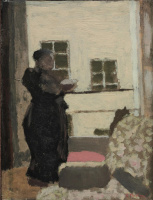Jean Edouard Vuillard. Madame Vuillard at the window