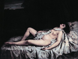 Гюстав Курбе. Лежащая обнаженная