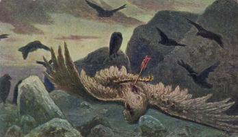 Wilhelm Kotarbinsky. Death of an eagle