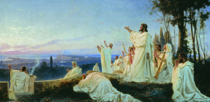 Fedor Andreevich Bronnikov. Anthem Pythagoreans rising sun. 1869