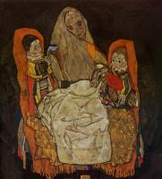Эгон Шиле. Мать с двумя детьми