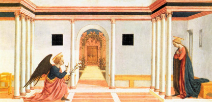 Domenico Veneziano. The Annunciation