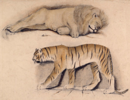 Джон Эверетт Милле. Спящий лев и тигр