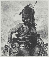 """Adolf Friedrich Erdmann von Menzel. A series of """"From the time of king Frederick. Heroes of war and peace"""", Hans Joachim von Noisy, Prussian General of cavalry"""