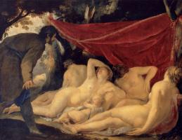 Жак Бланшар. Венера и грации, застигнутые врасплох смертным