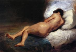 Эжен Делакруа. Лежащая обнаженная женщина