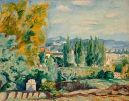 Henri Manguin. Autumn landscape, Saint-Tropez