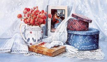Глинда Терли. Натюрморт с книгой