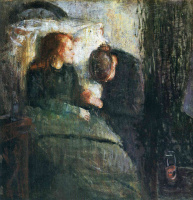 Edvard Munch. Sick girl