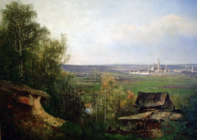 Fedor Ivanovich Yasnovsky. View of the Novodevichy Convent. Private collection
