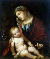 Джироламо Романино. Мадонна с младенцем