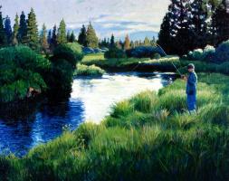 Роберт Швенк. Рыбалка на реке Малый Дешут