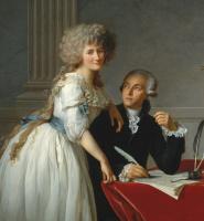 Jacques-Louis David. Portrait of Antoine Laurent Lavoisier and his wife Marie Anne Pierrette Pulse. Fragment