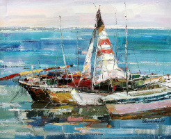 Андрей Шарабарин. Пейзаж с лодками