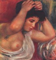 Пьер Огюст Ренуар. Молодая женщина, делающая прическу