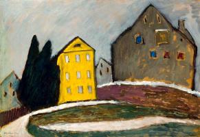 Gabriel Munter. Yellow house