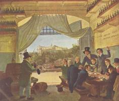 Петер фон Корнелиус. Дружеское застолье