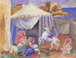 Pablo Picasso. Circus at the fair