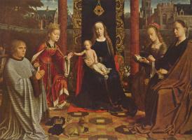 Герард Давид. Мистическое обручение св. Екатерины