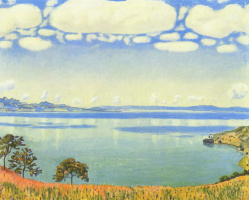 Ferdinand Hodler. View of lake Geneva with Sabre