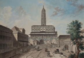 Фридрих Гильфердинг. Сухарева башня. Вид от улицы Сретенки