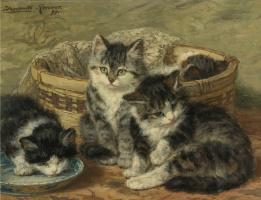 Генриетта Роннер-Книп. Четыре котенка