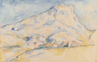 Mount Sainte Victoire mountain (the Mount of Saint Victoria), sketch