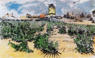 Vincent van Gogh. The Alphonse Daudet's windmill in Fonteville