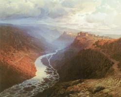 Ilya Nikolayevich Zankovsky. Mountain landscape