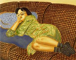 Симонид. Женщина лежит на диване