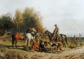 Рудольф Федорович Френц. Охотники