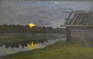 Иван Кириллович Слюсарев. Восход луны