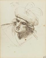 Джордж Ромни. Портрет мужчины в шляпе с пером (Макбет). Эскиз