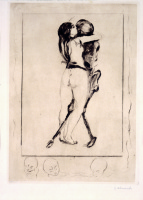 Edvard Munch. The girl and death
