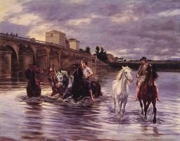 Люсьен Альфонс Грос. Пересекая реку