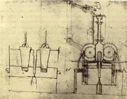 Leonardo da Vinci. Mechanism for irrigation and water distribution