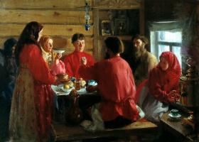 Иван Семенович Куликов. В крестьянской избе