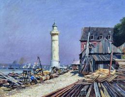 Alexey Petrovich Bogolyubov. Lighthouse. Shipyard in Honfleur