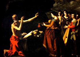 Франсиско де Сурбаран. Цикл картин для монастыря конгрегации святого Иеронима в Гуадалупе. Искушение святого Иеронима