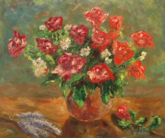 Larissa Lukaneva. Red roses