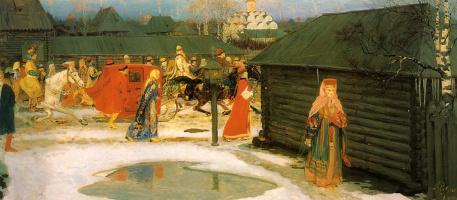 Андрей Петрович Рябушкин. Свадебный поезд в Москве