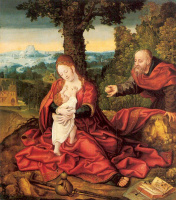 Баренд ван Орли. Богородица с младенцем в саду
