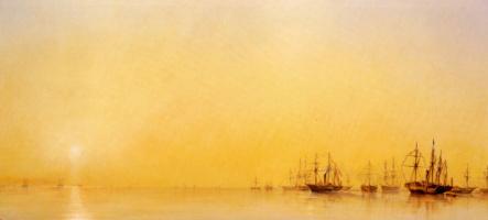 Франсуа Пьер Бернар Барри. Прибытие яхты королевы Виктории в Трепор