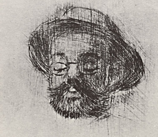 Henri de Toulouse-Lautrec. Portrait of Henry Somm