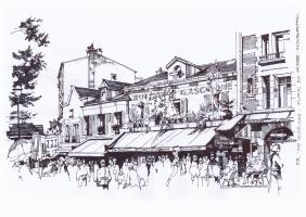 Place du Tertre.Montmartre.Paris-2014