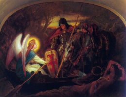 Joseph Noel Paton. As the angel was carrying the sir Galahad