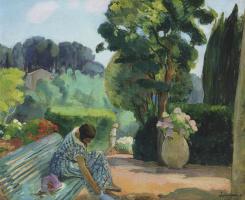 Henri Lebasque. The terrace in Pradet