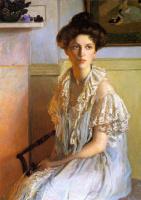 Лила Кэбот Перри. Женщина с вазой фиалок